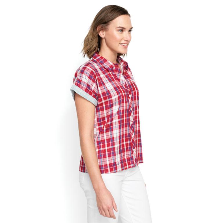 Short-Sleeved Dolman Double-Faced Shirt -  image number 2