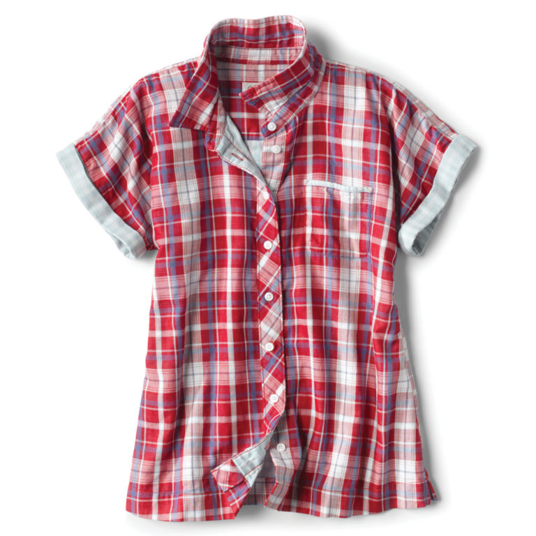 Short-Sleeved Dolman Double-Faced Shirt -  image number 3