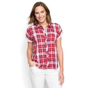 Short-Sleeved Dolman Double-Faced Shirt -  image number 0