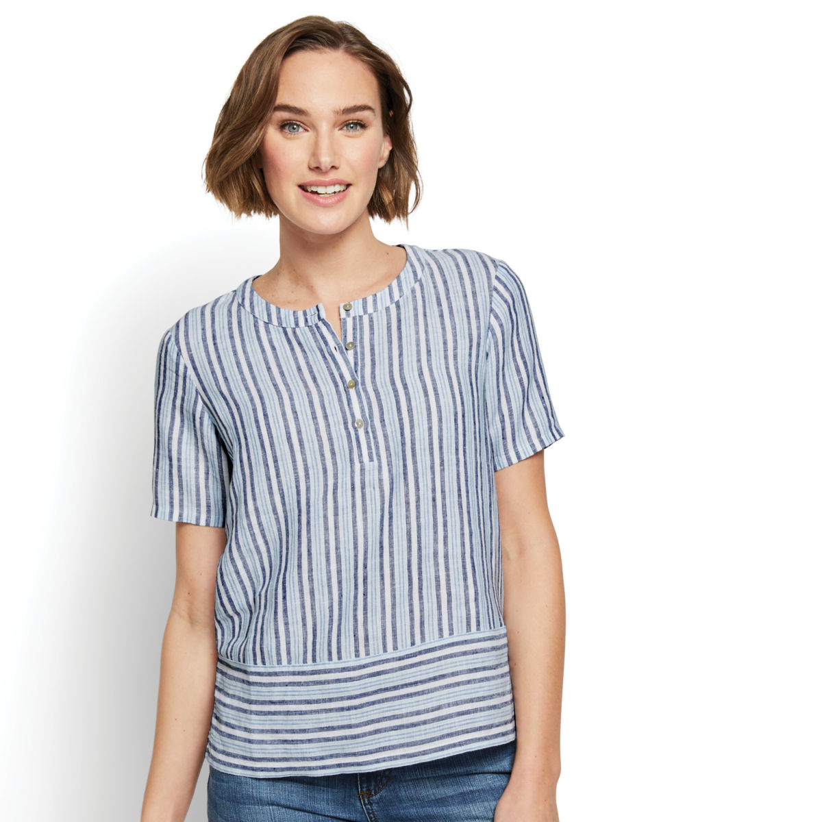 Lightweight Linen Boxy Popover - image number 0