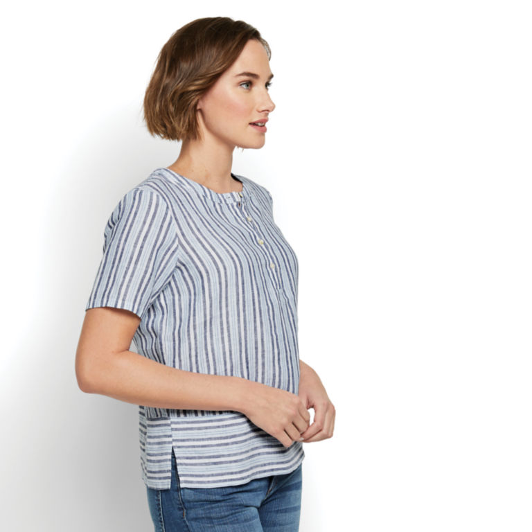 Lightweight Linen Boxy Popover -  image number 1