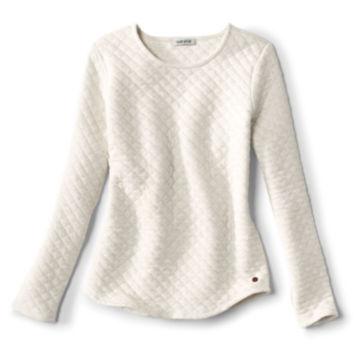 Quilted Crewneck Sweatshirt -  image number 0