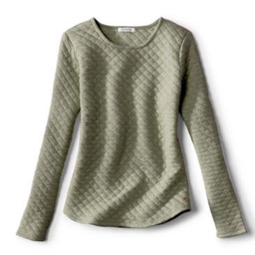 Quilted Crewneck Sweatshirt -