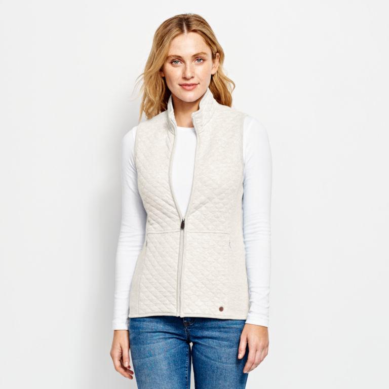 Quilted Sweatshirt Vest -  image number 0