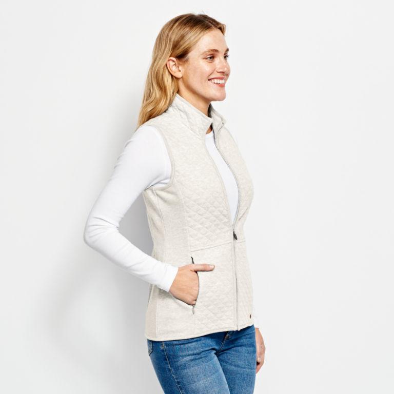 Quilted Sweatshirt Vest -  image number 1