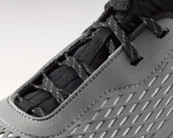 A close-up of the laces.