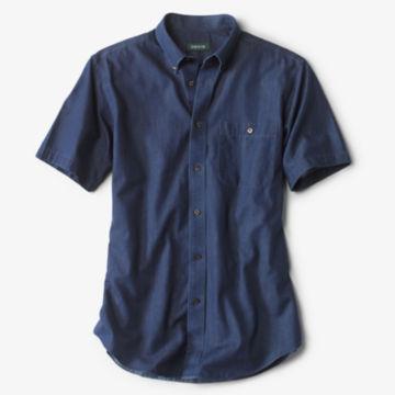 Wrinkle-Free Denim Short-Sleeved Shirt -  image number 0
