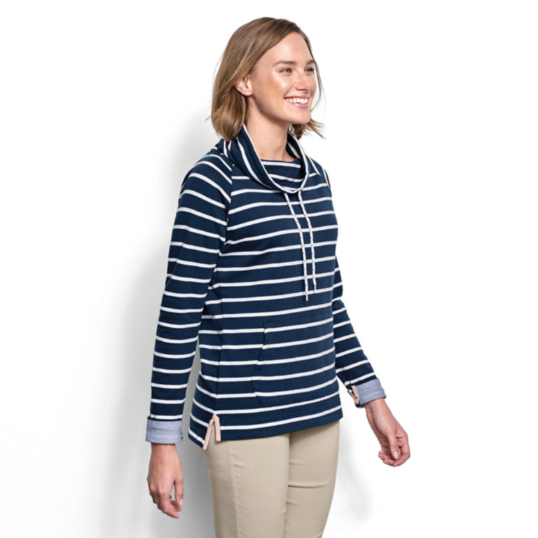 Organic Cotton French Terry Cowlneck Sweatshirt -  image number 1