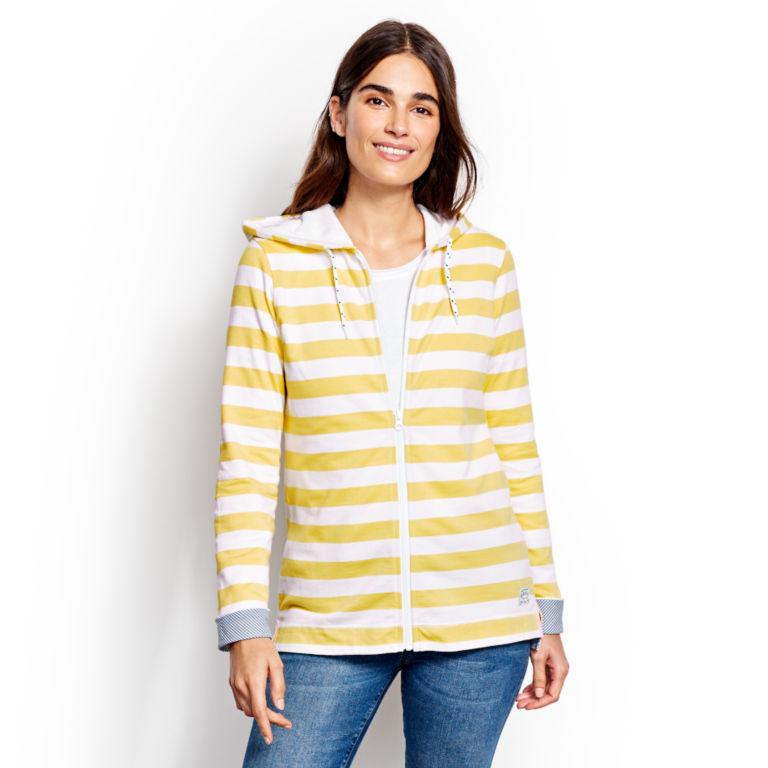 Organic Cotton French Terry Full-Zip Hoodie - LEMON DROP image number 1