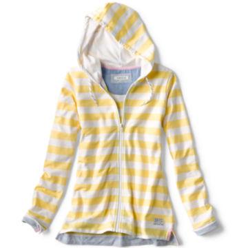 Organic Cotton French Terry Full-Zip Hoodie - LEMON DROP image number 0