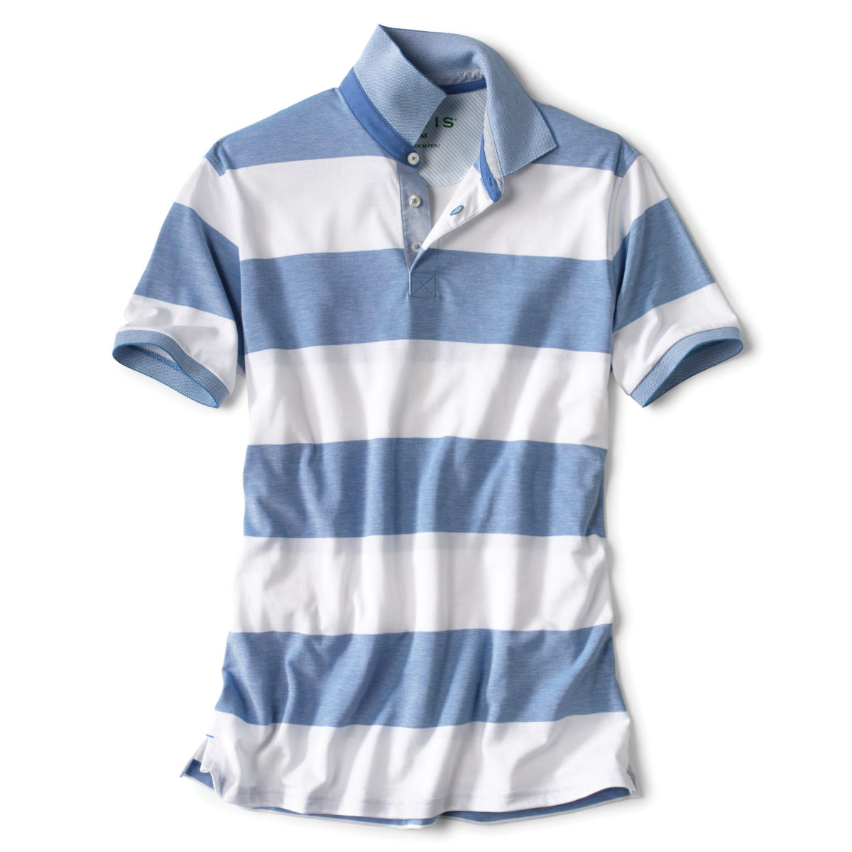 Rugby Stripe Piqué Polo - BLUE/WHITEimage number 0