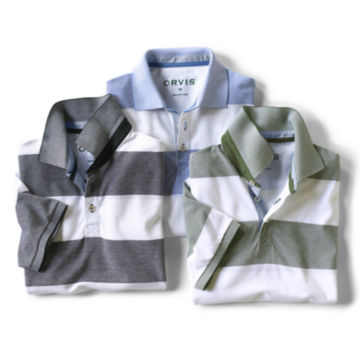 Rugby Stripe Piqué Polo -  image number 1