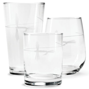 Hand-Etched Fly on The Line Glasses -