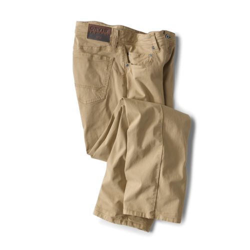A pair of tan pants