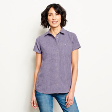 Short-Sleeved Tech Chambray Work Shirt -