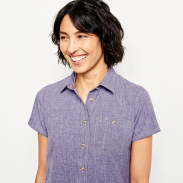 Short-Sleeved Tech Chambray Work Shirt -  image number 3