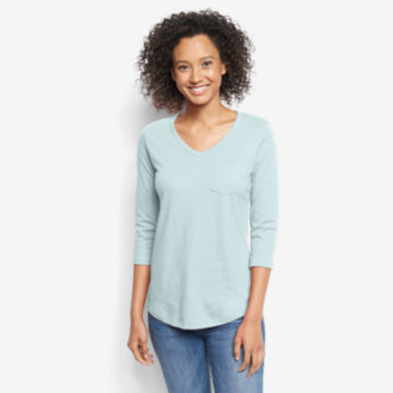 1856 Organic Cotton Three-Quarter-Sleeved Tee -  image number 0