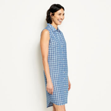Linen Check Sleeveless Dress -  image number 1