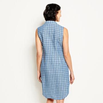 Linen Check Sleeveless Dress -  image number 2