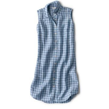 Linen Check Sleeveless Dress -  image number 4
