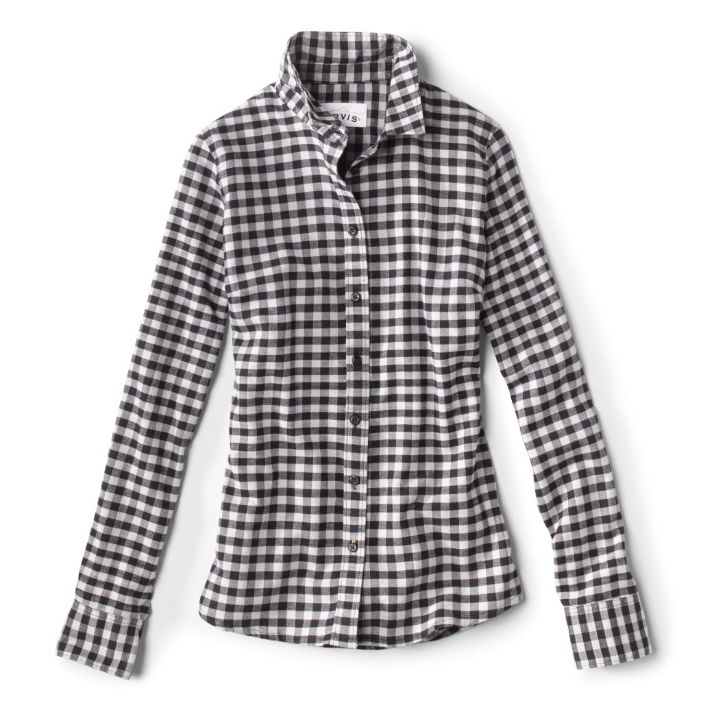 Women's Tech Check Flannel shirt in black