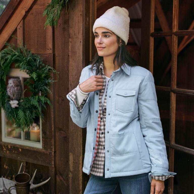 Women's Tech Chambray Shirt Jacket - BLUE FOG image number 5