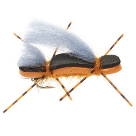 A rubbery-looking fly with four long legs and long hair out the top