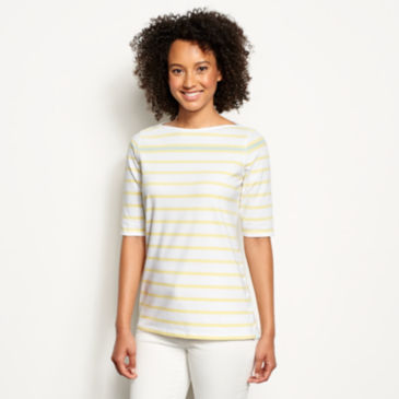 Classic Cotton Elbow-Sleeved Tee -