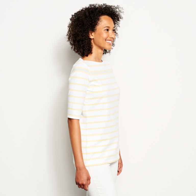 Classic Cotton Elbow-Sleeved Tee -  image number 1