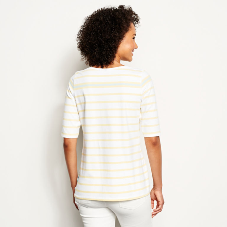 Classic Cotton Elbow-Sleeved Tee -  image number 2