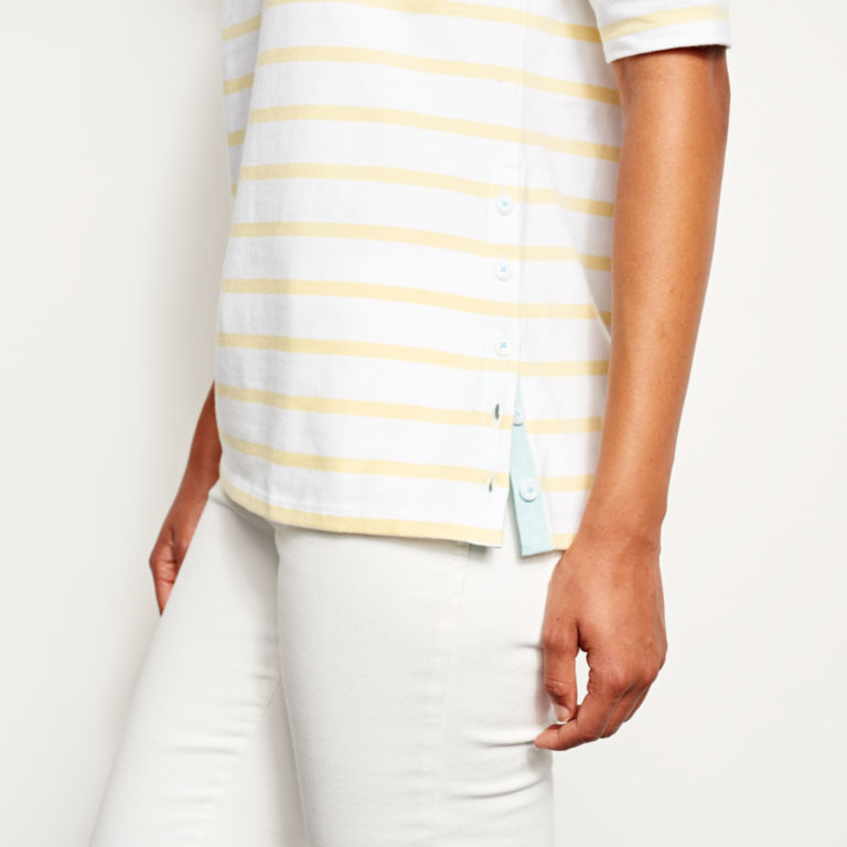 Classic Cotton Elbow-Sleeved Tee -  image number 4
