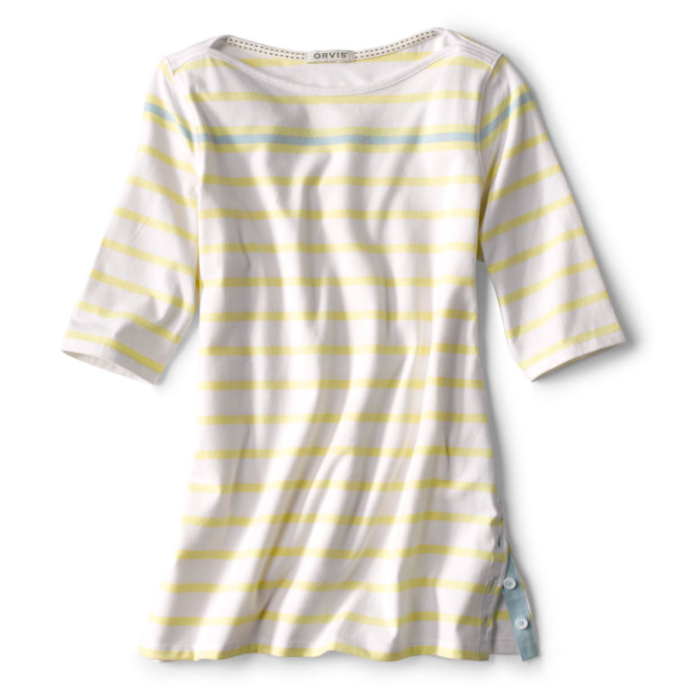 Classic Cotton Elbow-Sleeved Tee -  image number 5