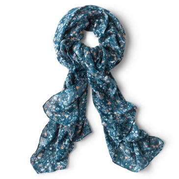Watercolor Floral Jacquard Scarf -