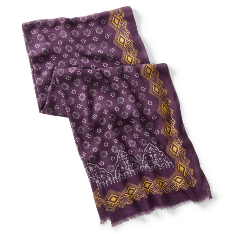 Patterned Cotton/Modal Scarf -  image number 1
