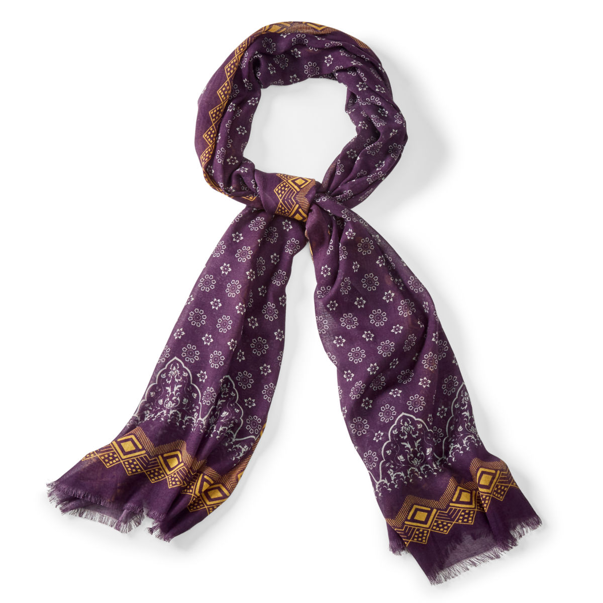 Patterned Cotton/Modal Scarf - image number 0