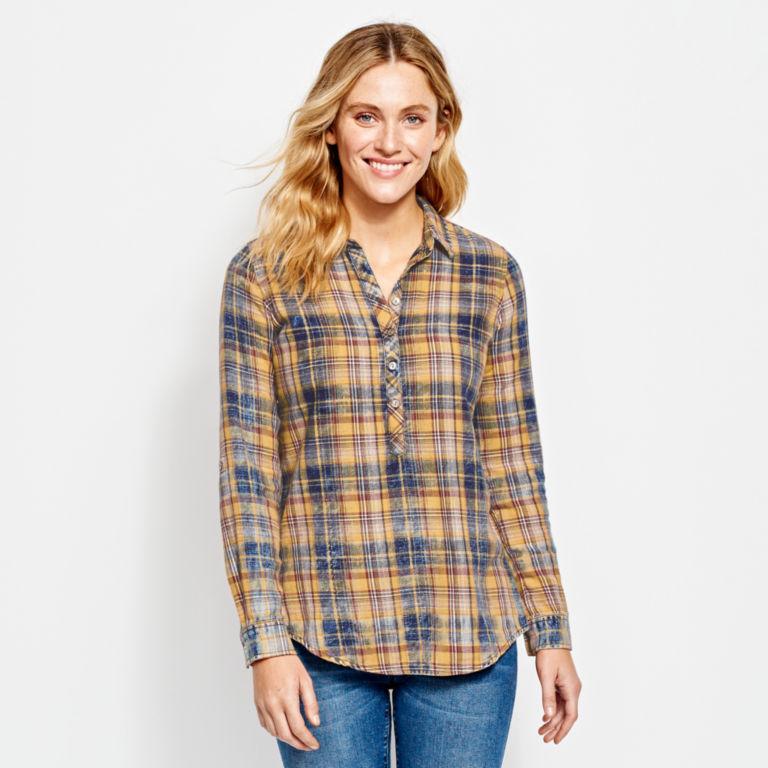 Washed Plaid Tunic Shirt -  image number 0