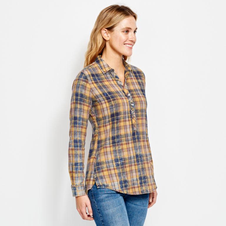 Washed Plaid Tunic Shirt -  image number 1