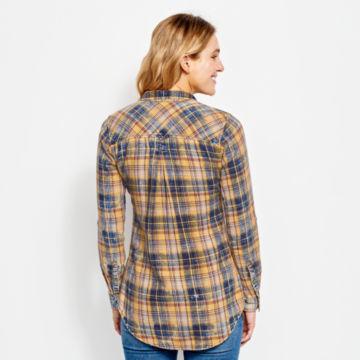 Washed Plaid Tunic Shirt -  image number 2
