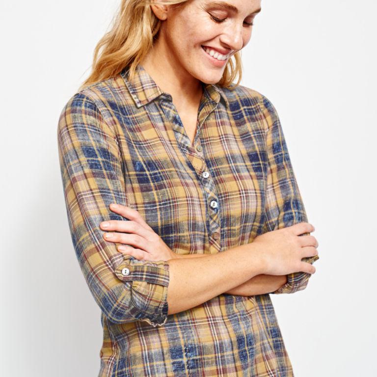Washed Plaid Tunic Shirt -  image number 3