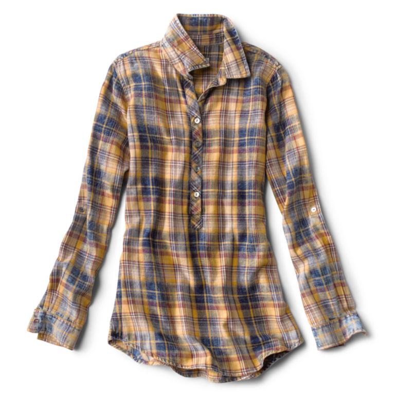 Washed Plaid Tunic Shirt -  image number 4