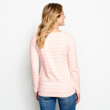 Classic Cotton Boatneck Striped Tee -  image number 2