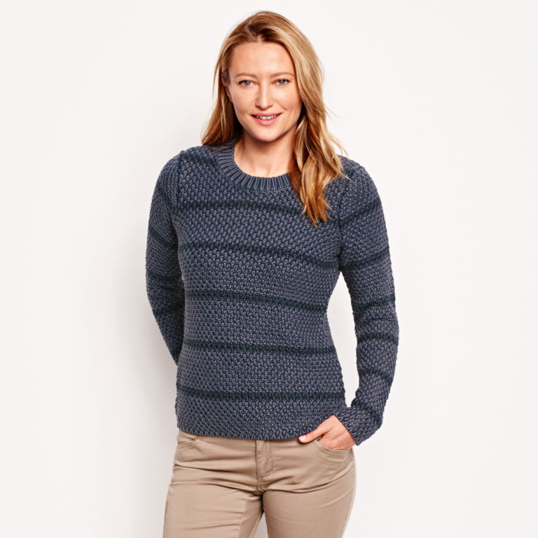 Natural Wonders Striped Crewneck Sweater -  image number 1