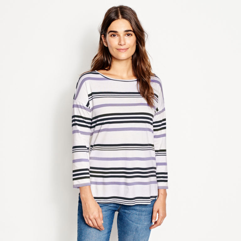Supersoft Striped Tee -  image number 0