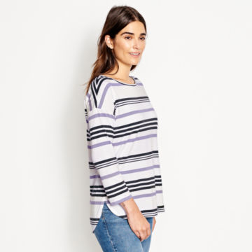 Supersoft Striped Tee -  image number 1