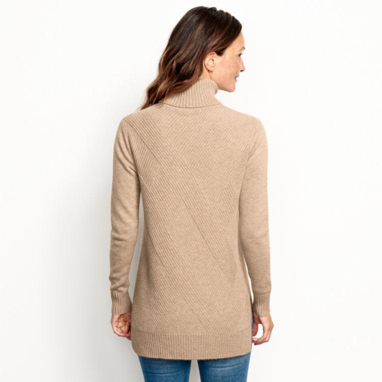 Cashmere Mixed Stitch Tunic Sweater -  image number 2
