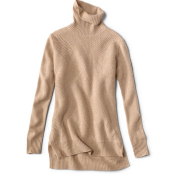 Cashmere Mixed Stitch Tunic Sweater - image number 5