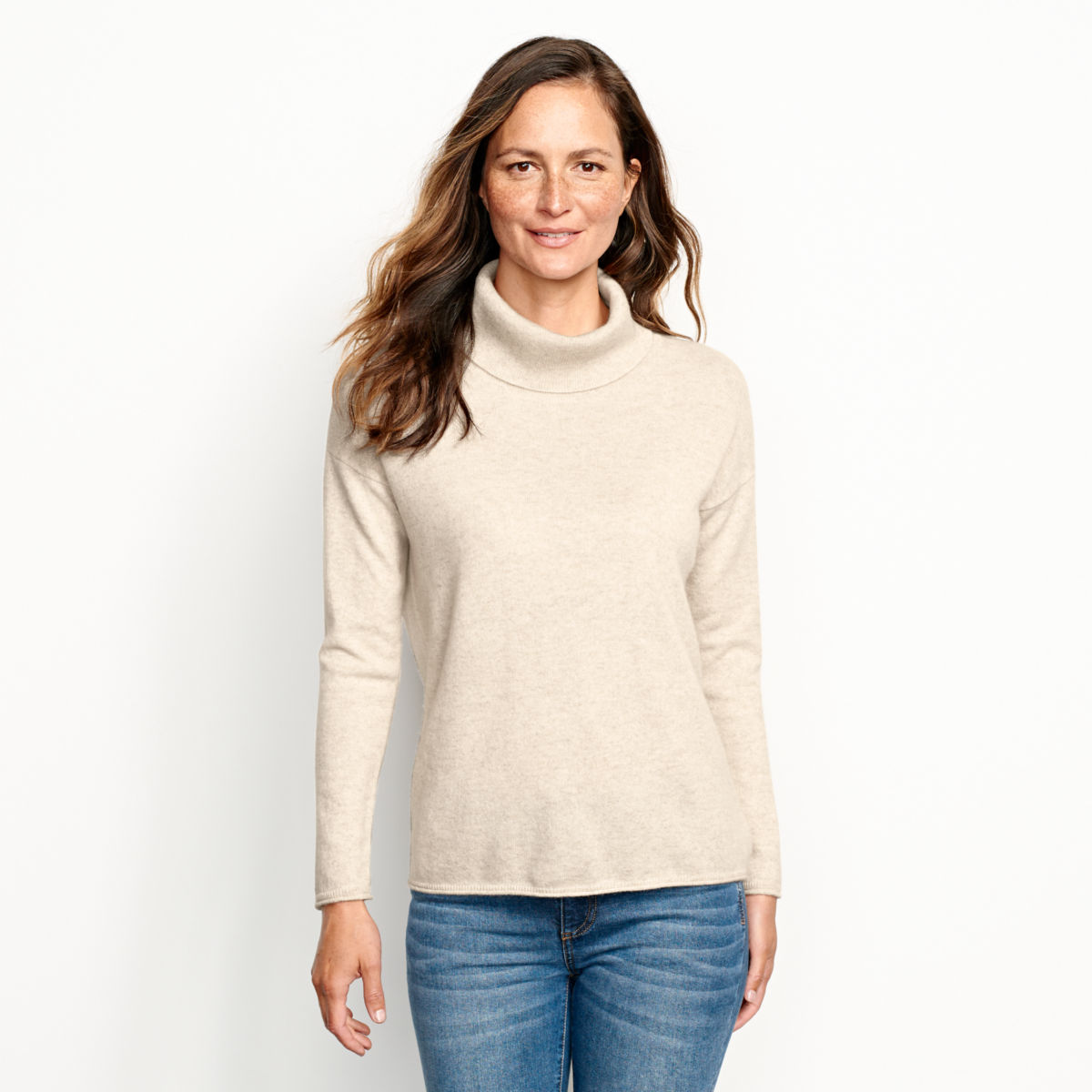 Natural Cashmere Cowlneck Sweater - image number 0