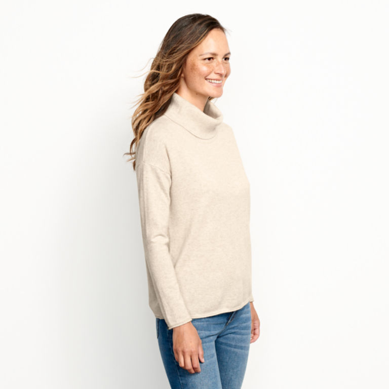 Natural Cashmere Cowlneck Sweater -  image number 1