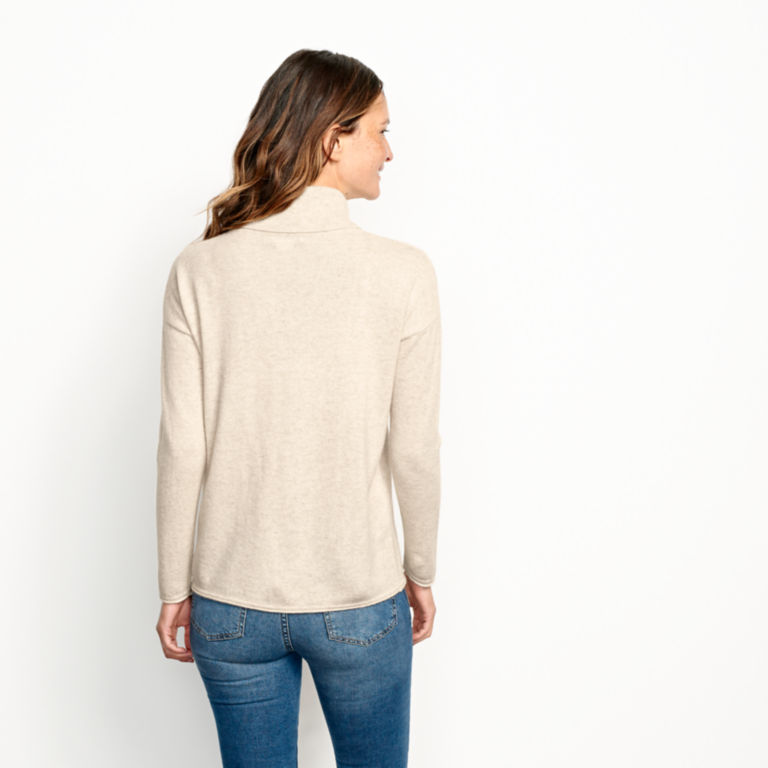 Natural Cashmere Cowlneck Sweater -  image number 2