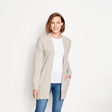 Cashmere Open Front Cardigan Sweater -